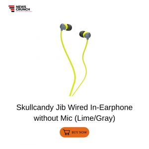 Skullcandy Jib Wired In-Earphone without Mic (Lime Gray)