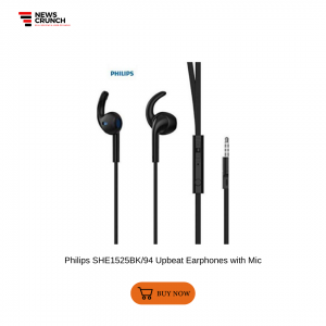 Philips SHE1525BK94 Upbeat Earphones with Mic