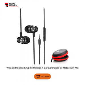 WeCool Mr.Bass Snug Fit Metallic in-Ear Earphones for Mobile with Mic