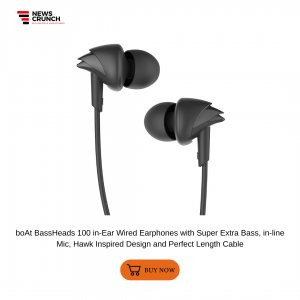 boAt BassHeads 100 in-Ear Wired Earphones with Super Extra Bass, in-line Mic, Hawk Inspired Design and Perfect Length Cable